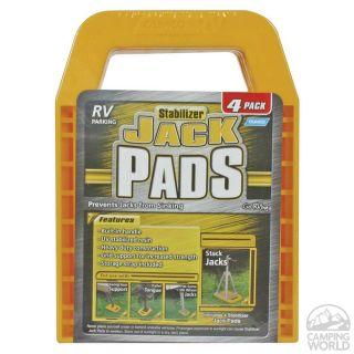 Stabilizer Jack Pads, 4pk   Camco RV 44595   Stabilizing Jacks