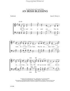 Look inside An Irish Blessing   Sheet Music Plus