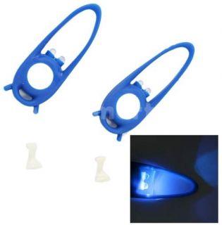 pcs 2 LED Silicone Safety Warning Bicycle Caution Light Blue   Tmart