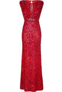 Jenny Packham Scarlet Red Sleeveless Sequin Gown  Damen  Kleider