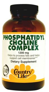 Country Life   Phosphatidyl Choline Complex 1200 mg.   200 Softgels