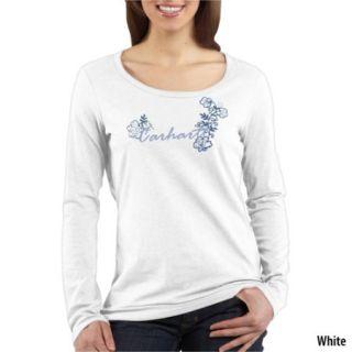 Carhartt Womens Tonal Embroidered Logo Long Sleeve Crew Neck Tee