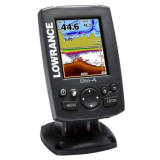Lowrance Elite 4 Chartplotter/Fishfinder Combo With Color Display