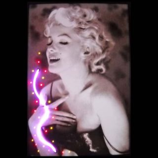 Neon Art Marilyn Monroe Perfume Neon and LED Light Picture—Buy Now