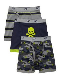 Skull and camo boxer briefs (3 pack)  Gap   Free Shipping on $50