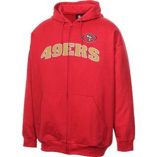 Sweatshirts Mens San Francisco 49ers Big & Tall Applique FZ Hooded