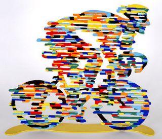 David Gerstein Modern Art Tour De France Cyclist Metal Sculpture