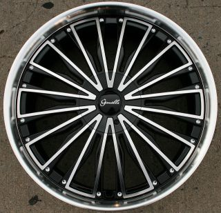 GIANELLE TRENTINO L2 22 BLACK RIMS WHEELS GMC ACADIA 07 up / 22 X 9.5