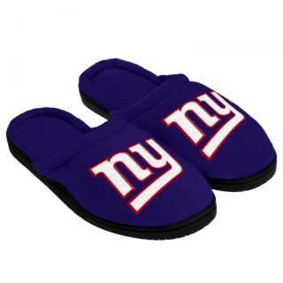 New York Giants NFL Full Sole Cupped Team Logo Slippers 2012 New