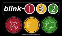New, Genuine BLINK 182 Traffic Light Logo STICKER Decal