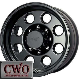 Black MB MB 72 Wheels Rims 8x165.1 8 Lug Chevy GMC Dodge 2500 2500HD