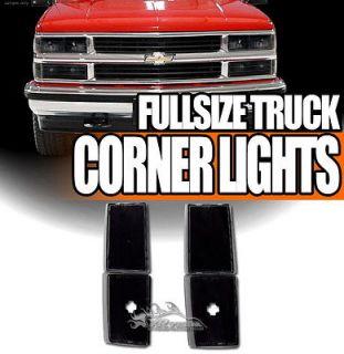 4pc 88 93 Chevy/GMC C10 C/K Truck/Suburban/Yukon/Blazer JDM Black