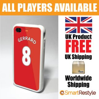 Football Soccer Shirt Style Phone Cover Case for iPhone 4/4s Gerrard