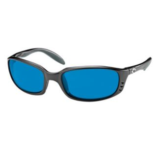 Costa Del Mar Brine Sunglasses   Black Frame/400G Blue Mirror Glass