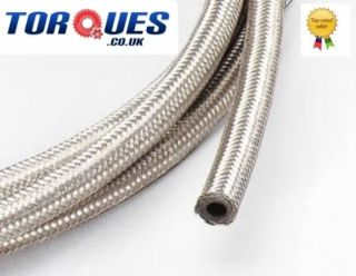 AN  6 (8mm) 5/16 Stainless Steel Braided Fuel Hose 1 m