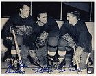 GORDIE HOWE TED LINDSAY SID ABEL SIGNED RED WINGS PRODUCTION LINE PIC