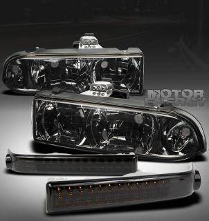 98 04 S10/BLAZER PICKUP TRUCK SMOKE CRYSTAL HEAD LIGHTS+LED BUMPER LS
