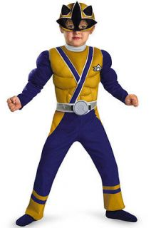 Power Rangers Samurai Gold Ranger Samurai Muscle Toddler Costume Size