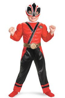 Power Rangers Samurai Red Ranger Muscle Toddler Costume SizeM 3T 4T