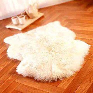 Newly listed SHEEPSKIN RUG sheep skin single Fur Pelt   WHITE HAIR m