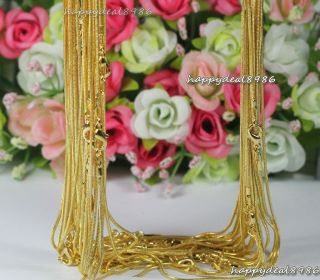wholesale10pc​s gold plated snake chain necklace 18
