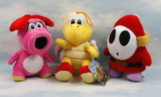 super mario bros birdo red paratroopa shy guy 6 7 soft plush doll toy
