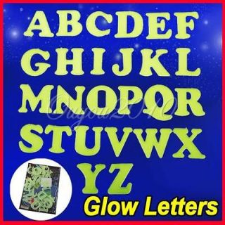 26 Alphabet Letters Glow In The Dark Wall Ceiling Stickers Baby Room