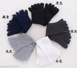 Sock5 Wholesale 2 pairs 2 Color Mens Cotton Five Fingers Toe Socks