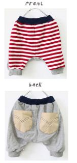 Unisex Harem Capri Pants Shorts Striped Hipster Korean Harajuku NEW