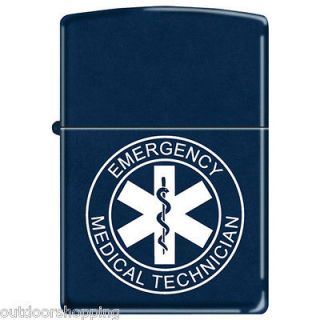 EMERGENCY MEDICAL TECHNICIAN Authentic ZIPPO   Refillable Fluid Light