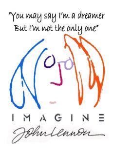 John Lennon The Beatles Imagine short sleeve t shirt