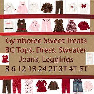 Gymboree Sweet Treats Tops,Pants,Jeans,Leggings,Dress 3 6 12 18 24 2T