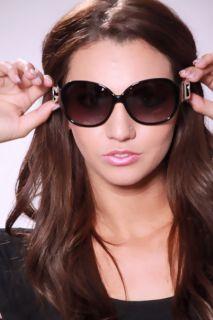 Black Leopard DG Logo Plastic Frames Med Tint Lenses Sunglasses