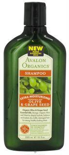 Buy Avalon Organics   Shampoo Extra Moisturizing Olive & Grape Seed
