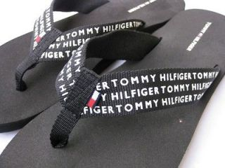 NEW TOMMY HILFIGER flip flops sandals shoes slippers PINK or BLACK 6,7