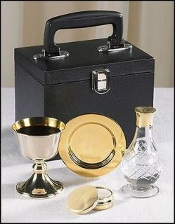 Chalice Paten Pyx Holy Water Bottle Carrying Case Priest Traveling