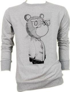 West Graduation Bear Dance Trance DJ Tee Grays Sweater Jumper S,M,L
