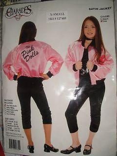 NEW Girls Pink Dolls Grease Satin Jacket XS 4 6
