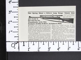 1935 GRIFFIN HOWE Custom 25 Roberts Bolt Action Varmint Rifle magazine
