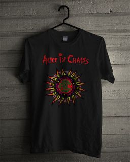 NEW ALICE IN CHAINS Grunge Rock Band Men T shirt size L (S to 3XL Av)