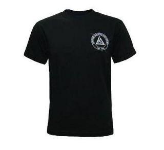 GRACIE ACADEMY JIU JITSU MMA SHIRT BLACK  S, M, L, XL, 2XL