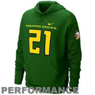 Nike Oregon Ducks #21 Green 2011 Pro Combat Rivalry Performance