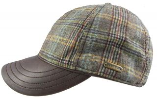 Stetson Haines Wool/Leather Baseball Cap   Leather Peak   2 Colours