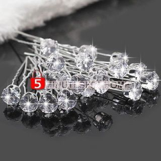 Crystal Rhinestone Wedding Bridal Hair Pins Sticks Clips New Fashion