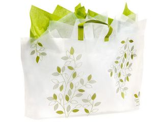 IVY LANE PLASTIC FROSTED shopping / gift bags (250 GRANDE 22X12X6)