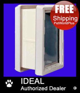 IDEAL Ruff Weather Pet Dog Door **2 Flap** & WALL KIT    MEDIUM