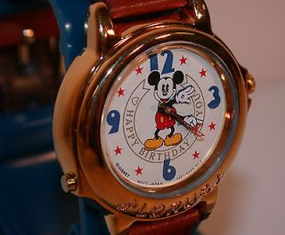 LORUS MiCKEY MOUSE HAPPY BiRTHDAY WATCH MUSiCAL & ANiMATED HANDS MOVE