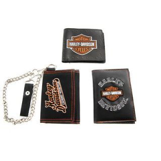 harley davidson trifold wallets in Clothing,