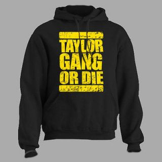 TAYLOR GANG OR DIE ~ HOODIE wiz khalifa rap hip hop LARGE