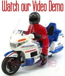 18 Mini RC Radio Remote Control Motorcycle Motor bike the Police